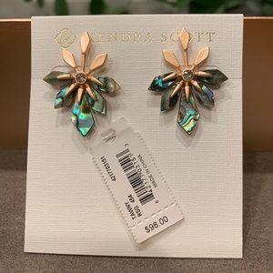 Kendra Scott Abalone RSG plated Earrings NWT